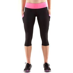 LULULEMON RUN MOD MOVES AFTERGLO CROPS 6 NO FLAWS